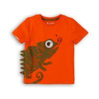 3201090 Tricou cu maneca scurta si imprimeu Minoti Lizard