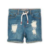 3201283 Pantaloni jeans scurti cu snur Minoti Good