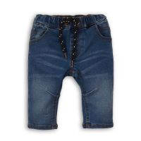 34110420 Pantaloni jeans denim cu snur Minoti Wheelie, Albastru