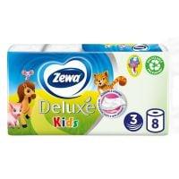 3424_001w Hartie igienica Zewa Deluxe Kids, 3 straturi, 8 role