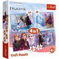 Puzzle 4 in 1, Trefl, Calatorie in necunoscut, Disney Frozen 2 (35, 48, 54 si 70 piese)
