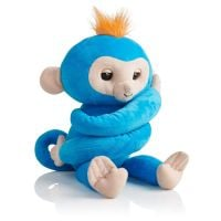 Jucarie de plus WowWee Fingerlings Hugs - Boris Monkey Turquoise 3
