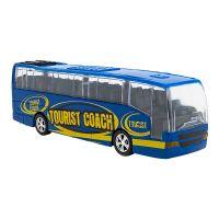 36549 Autobuz din metal cu sunete si lumini Globo, Albastru