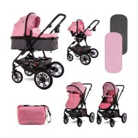 3800151995111 1002128 2189_001 Set Carucior Lorelli, Lora, cos auto inclus, Candy Pink