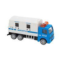 38371 Camion Globo Pull Back Die Cast, 155, Alb - Albastru