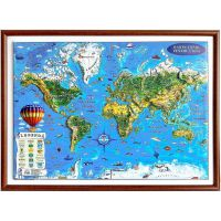 3DGHLCP430-RN_001w Harta lumii pentru copii Eurodidactica 3D
