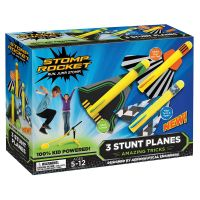 40000I_001w  Set 3 avioane si pompa de aer Stomp Rocket, Multicolor