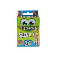 40280_001w Set 24 creioane cerate parfumate Scentos, multicolor