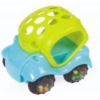 411123_001w Jucarie bebelusi BamBam, Masinuta mini verde/albastru