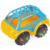 411128_001w Jucarie bebelusi BamBam, Masinuta mini portocaliu/albastru