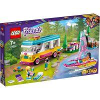 LG41681_001w LEGO® Friends - Furgoneta de camping si barca cu panze (41681)
