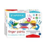 448008_001w Finger paints cu 6 culori Starpak, 40 ml