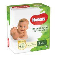 Servetele umede Huggies Natural Care Extra Care Triplo