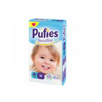 REDIS162 Scutece Pufies Sensitive Nr. 4+, 9-16 kg, 50 buc