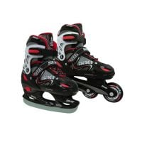 529BIKKIBDUOL_001 Role - Patine, 2 in 1, DHS IKKI BOY, 39-42, Negru-Rosu