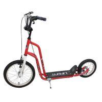 529SCORIDER01_001 Trotineta DHS Rider, roata fata 16 inch si spate 12 inch, rosu cu alb