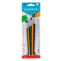 5906453901091 Set 6 pensule multicolore din par natural, Starpak
