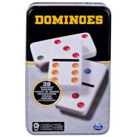 6033156_001w Joc Domino in cutie de metal, 28 de piese