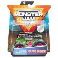 6044941_009w Masinuta Monster Jam, Scara 1:64, Grave Digger cu figurina, Verde