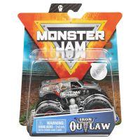 6044941_014w Masinuta Monster Jam, Scara 1:64, Iron Outlaw cu figurina, Gri
