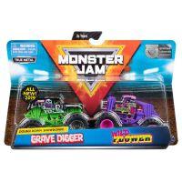 6044943_006w Set 2 masini Monster Jam, Grave Digger si Wild Flower