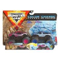 6044943_032w Set 2 masinute Monster Jam, Color Change, Blue Thunder si Full Charge, 20128652