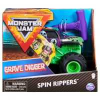6044990_006w Masinuta Monster Jam, Scara 1:43, Grave Digger Spin Rippers