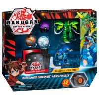 6045132_023w Set 5 Bakugan Battle Planet, Ventus Hyper Dragonoid, Aquos Pandoxx, 20115628