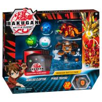 6045132_024w Set 5 Bakugan Battle Planet, Aurelus Cloptor, Pyrus Trhyno, 20115629
