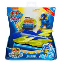 6055753_001w Figurina cu vehicul Paw Patrol Deluxe Vehicle Mighty Pups, Chase 20121272