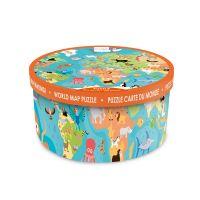 6181117_001w Puzzle de podea Scratch, Animalele lumii, 36 piese