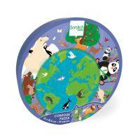 6181196_001w Puzzle Scratch, Lumea animalelor, 45 piese