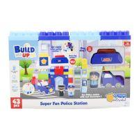 Set de construit Statie de politie Happy Line, 43 piese