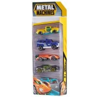 6709_001w Set de 5 masinute Metal Machines, 1:64, Multicolor