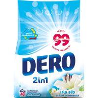 68286603_001w Detergent automat Dero 2 in 1 Iris Alb, 40 spalari, 4 kg