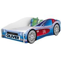 Pat Tineret MyKids Race Car 02 Blue, Somiera 160x80 cm