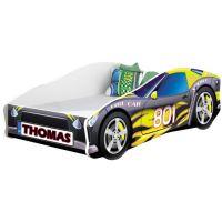 Pat Tineret MyKids Race Car 06 Black, Somiera 140x70 cm