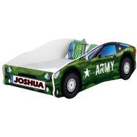 Pat Tineret MyKids Race Car 07 Army, Somiera 160x80 cm