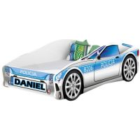 Pat Tineret MyKids Race Car 09 Policja, Somiera 140x70 cm