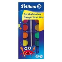 721258_001w Acuarele, pensula si tub alb de zinc Pelikan, 12 culori