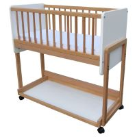 732854847783 Patut din lemn, pentru copii, Primii Pasi, 126 x 68 cm, Cosleeper 3 in 1