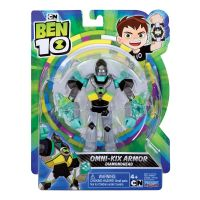 76100_047w Figurina Ben 10, Omni-Kix Armour, Diamondhead, 76145, 12 cm