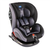 Scaun auto cu isofix, rotativ, Chicco Seat4fix, grupa 0+/1/2/3, 0-36kg, Negru-Gri