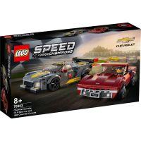 LG76903_001w LEGO® Speed Champions - Masina de curse Chevrolet Corvette C8.R si 1968 Chevrolet Corvette (76903)