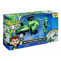 77400_004 Set de joaca Ben 10, Vehicul extraterestru cu figurina - Ben Transforming Omny-Cycle