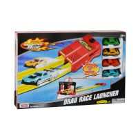78263_001w Set pista lansator si 4 masinute Motormax Drag Race Launcher