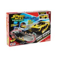 78280_001w Set de joaca cu 1 masinuta High Speed Racing Track Motormax