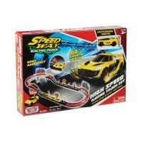 78280_001w Set de joaca cu 1 masinuta High Speed Racing Track Motormax