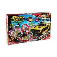 78281_001w Set de joaca cu 2 masinute High Speed Loop Track Motormax