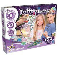 80002748_001w Joc educativ Science4you, Fabrica de tatuaje